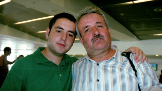 Juan Gomez's final moments with his dad (Julio) prior to Julio's deportation.